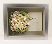 Cream Bridal Bouquet Preserved & Framed